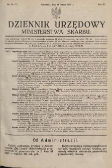 Dziennik Urzędowy Ministerstwa Skarbu. 1921, nr10-11