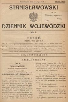 Stanisławowski Dziennik Wojewódzki. 1939, nr2