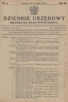 Dziennik Urzędowy Ministerstwa Spraw Wewnętrznych. 1929, nr2