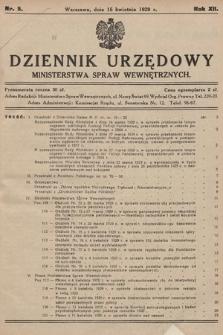 Dziennik Urzędowy Ministerstwa Spraw Wewnętrznych. 1929, nr5