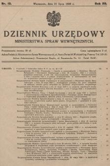 Dziennik Urzędowy Ministerstwa Spraw Wewnętrznych. 1929, nr10