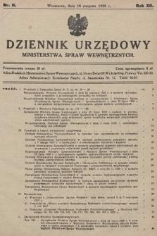 Dziennik Urzędowy Ministerstwa Spraw Wewnętrznych. 1929, nr11