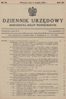 Dziennik Urzędowy Ministerstwa Spraw Wewnętrznych. 1929, nr12
