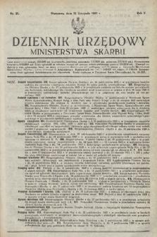 Dziennik Urzędowy Ministerstwa Skarbu. 1923, nr21
