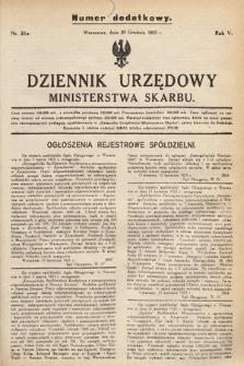 Dziennik Urzędowy Ministerstwa Skarbu. 1923, nr21a