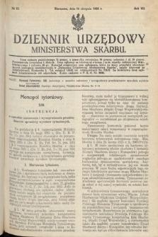 Dziennik Urzędowy Ministerstwa Skarbu. 1925, nr23