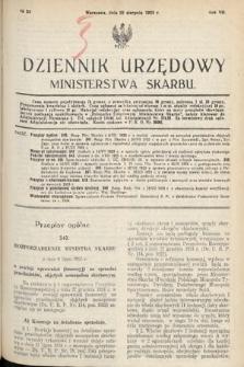 Dziennik Urzędowy Ministerstwa Skarbu. 1925, nr24