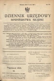 Dziennik Urzędowy Ministerstwa Skarbu. 1926, nr9