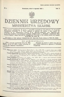 Dziennik Urzędowy Ministerstwa Skarbu. 1928, nr2