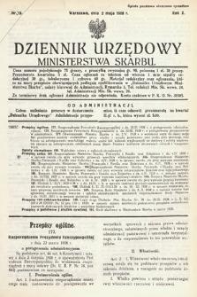 Dziennik Urzędowy Ministerstwa Skarbu. 1928, nr13