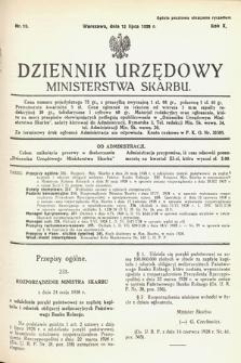 Dziennik Urzędowy Ministerstwa Skarbu. 1928, nr19