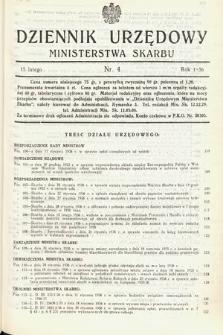 Dziennik Urzędowy Ministerstwa Skarbu. 1936, nr4