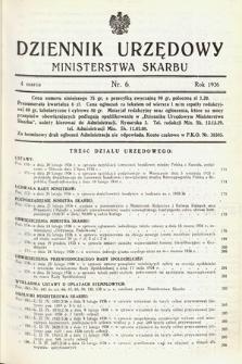 Dziennik Urzędowy Ministerstwa Skarbu. 1936, nr6