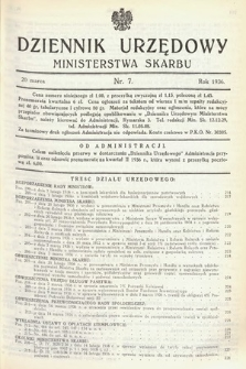 Dziennik Urzędowy Ministerstwa Skarbu. 1936, nr7