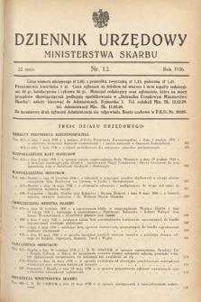 Dziennik Urzędowy Ministerstwa Skarbu. 1936, nr13