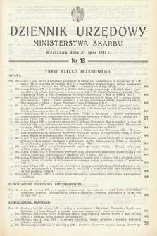 Dziennik Urzędowy Ministerstwa Skarbu. 1937, nr18