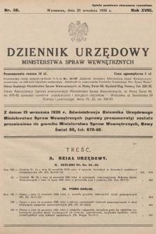 Dziennik Urzędowy Ministerstwa Spraw Wewnętrznych. 1935, nr30
