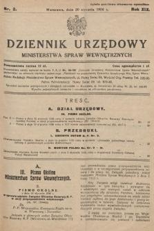 Dziennik Urzędowy Ministerstwa Spraw Wewnętrznych. 1936, nr2