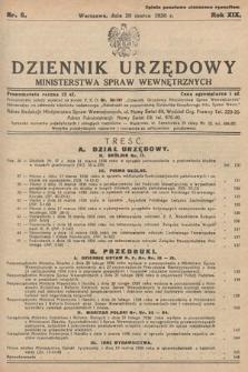 Dziennik Urzędowy Ministerstwa Spraw Wewnętrznych. 1936, nr8