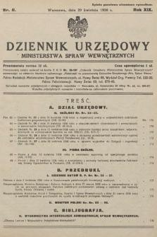 Dziennik Urzędowy Ministerstwa Spraw Wewnętrznych. 1936, nr11