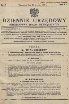 Dziennik Urzędowy Ministerstwa Spraw Wewnętrznych. 1937, nr1