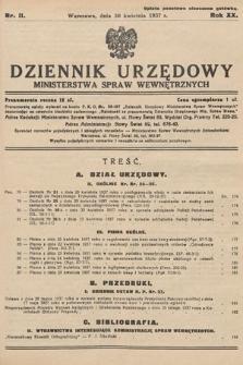 Dziennik Urzędowy Ministerstwa Spraw Wewnętrznych. 1937, nr11