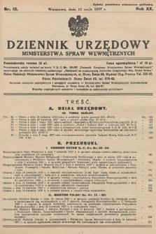 Dziennik Urzędowy Ministerstwa Spraw Wewnętrznych. 1937, nr12