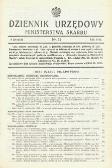 Dziennik Urzędowy Ministerstwa Skarbu. 1934, nr31
