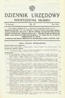 Dziennik Urzędowy Ministerstwa Skarbu. 1934, nr33