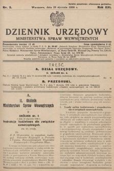 Dziennik Urzędowy Ministerstwa Spraw Wewnętrznych. 1938, nr3