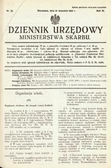Dziennik Urzędowy Ministerstwa Skarbu. 1929, nr26