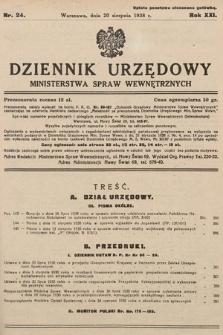Dziennik Urzędowy Ministerstwa Spraw Wewnętrznych. 1938, nr24