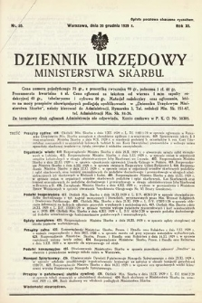 Dziennik Urzędowy Ministerstwa Skarbu. 1929, nr35