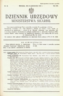 Dziennik Urzędowy Ministerstwa Skarbu. 1931, nr29
