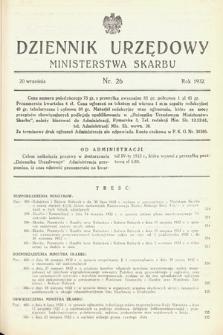 Dziennik Urzędowy Ministerstwa Skarbu. 1932, nr26