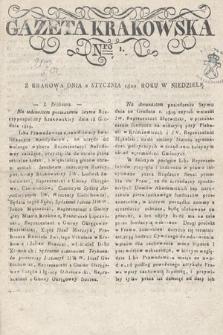 Gazeta Krakowska. 1820 , nr1