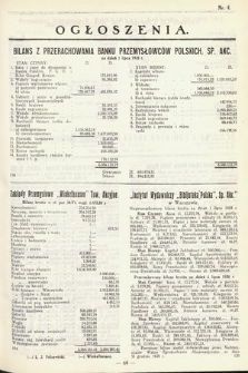 Ogłoszenia [dodatek do Dziennika Urzędowego Ministerstwa Skarbu]. 1929, nr4