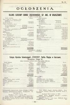 Ogłoszenia [dodatek do Dziennika Urzędowego Ministerstwa Skarbu]. 1929, nr13