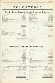 Ogłoszenia [dodatek do Dziennika Urzędowego Ministerstwa Skarbu]. 1929, nr14