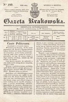 Gazeta Krakowska. 1834, nr189