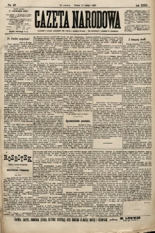 Gazeta Narodowa. 1900, nr47