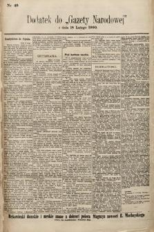 Gazeta Narodowa. 1900, nr49