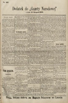 Gazeta Narodowa. 1900, nr225