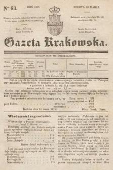 Gazeta Krakowska. 1839, nr63