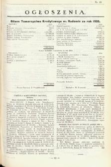 Ogłoszenia [dodatek do Dziennika Urzędowego Ministerstwa Skarbu]. 1936, nr15