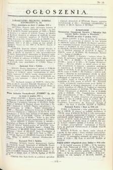 Ogłoszenia [dodatek do Dziennika Urzędowego Ministerstwa Skarbu]. 1936, nr16