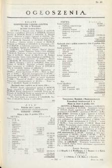 Ogłoszenia [dodatek do Dziennika Urzędowego Ministerstwa Skarbu]. 1936, nr20