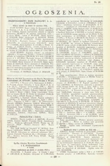 Ogłoszenia [dodatek do Dziennika Urzędowego Ministerstwa Skarbu]. 1936, nr24