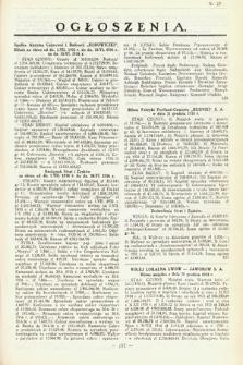 Ogłoszenia [dodatek do Dziennika Urzędowego Ministerstwa Skarbu]. 1936, nr27