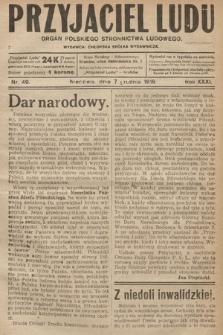 Przyjaciel Ludu : organ Polskiego Stronnictwa Ludowego. 1919, nr49